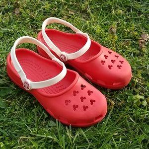 Disney red crocs mickey